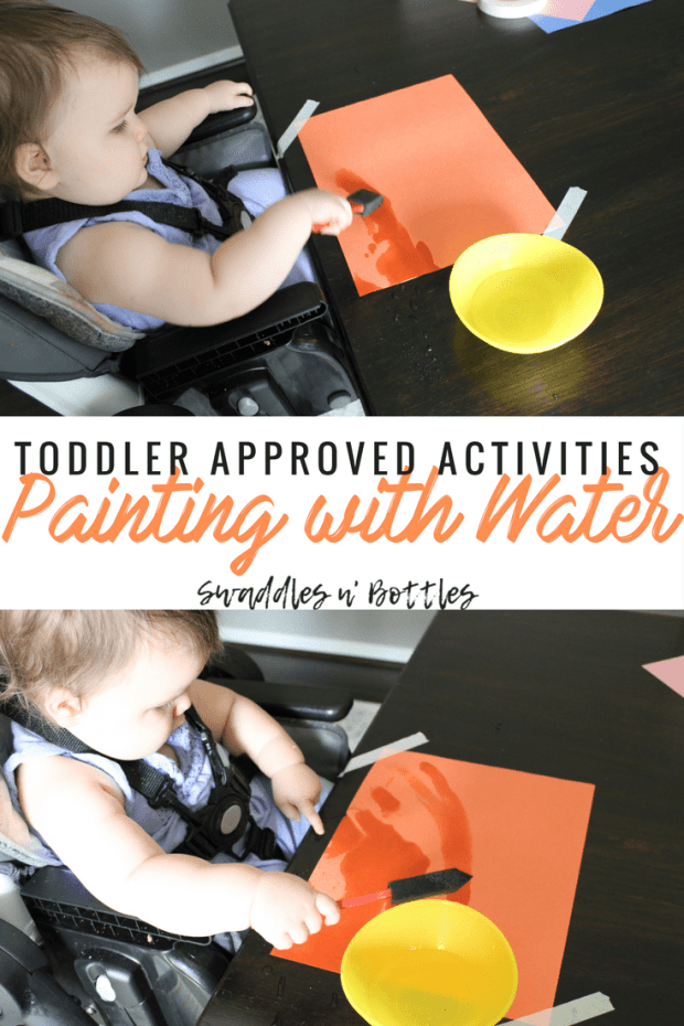 Painting with Water- Indoor and Outdoor Toddler Approved Activities. Perfect for 1 year old and up1!