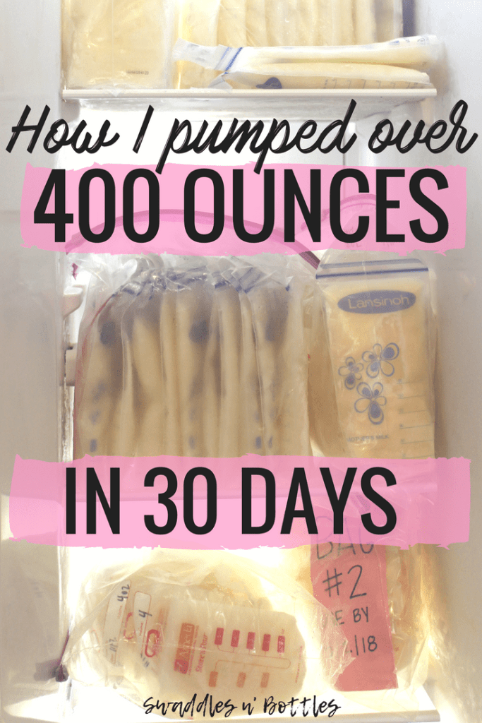How I Built a Freezer Stash of Over 400 Ounces of Breastmilk in 30 days