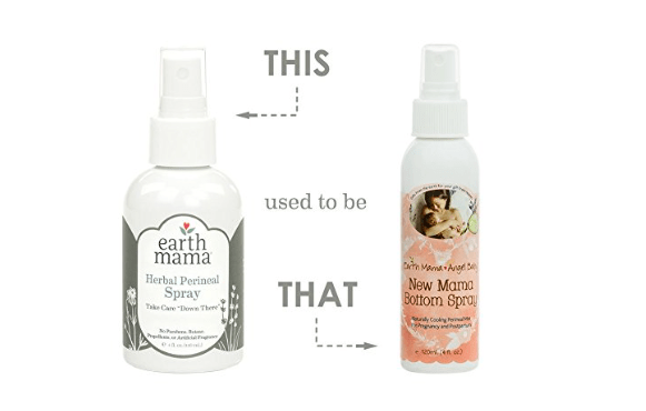 Earth mama bottom spray for postpartum relief