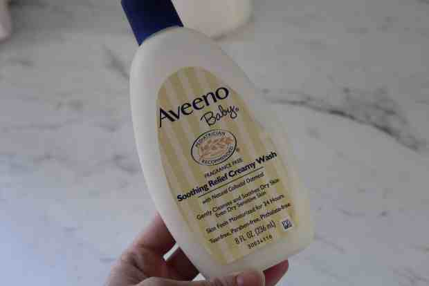 Homemade baby wipe- 2 cups water, 1 tbsp coconut oil and 1 tbsp baby wash. We opted for Aveeno cream cleanser!
