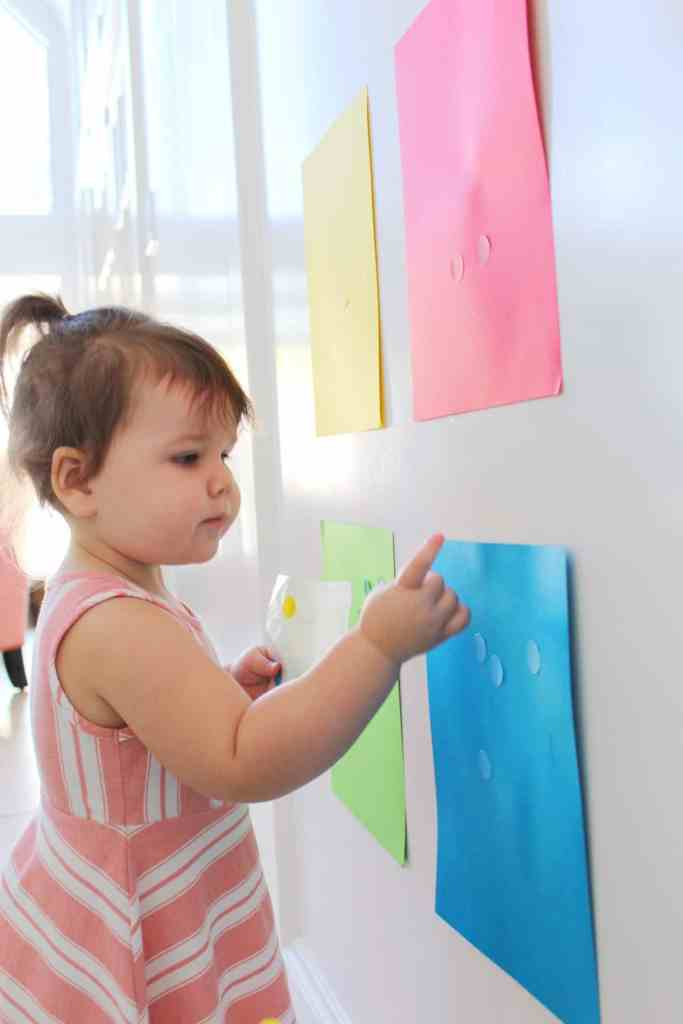 Color matching to help our toddler learn her colors!