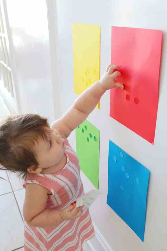 Color sorting activities to help toddlers learn colors