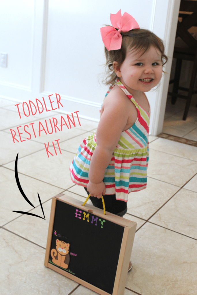 Toddler Restaurant Kit. A great way to make dining out with kids easy!