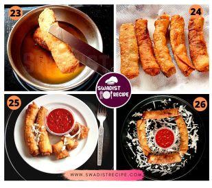 Veg Spring Roll Recipe Step 7