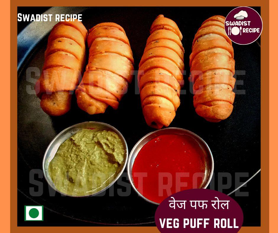 Veg puff roll Recipe Final Step