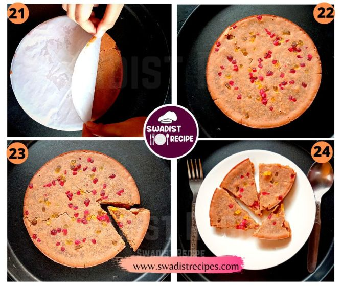 Parle G biscuit cake Recipe Step 6