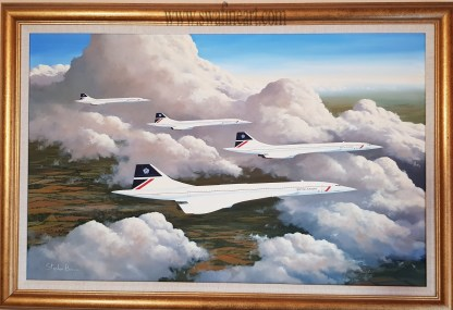 Cloud Companions - Concorde Original By Stephen Brown