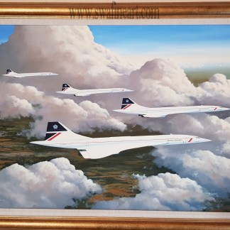 Cloud Companions - Concorde Original By Stephen Brown