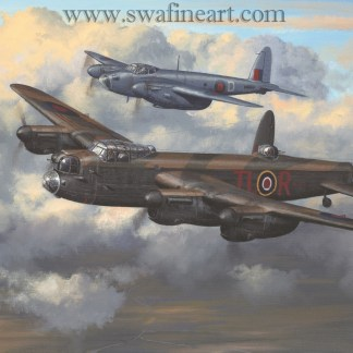Two's Company - Avro Lancaster By Philip West