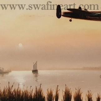 Pathfinders Inbound - Avro Lancaster by Stephen Brown