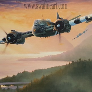 Fast Exit - Bristol Beaufighter By Stephen Brown