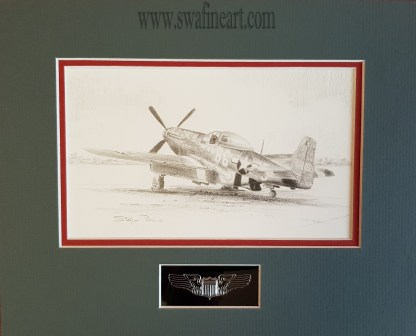 P-51D Mustang Old Crow By Stephen Brown