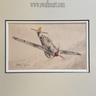 Me 109 E-4/n Trop of JG27 Original by Stephen Brown