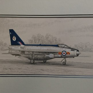 Lightning F2A - Original Pencil Drawing by Stephen Brown