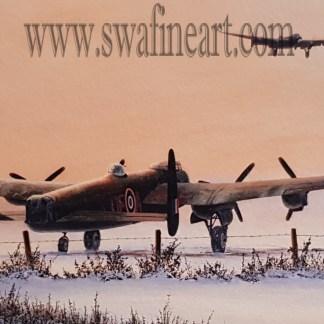Winter's Glow - Avro Lancaster