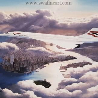 Concorde the Golden Years Stephen brown aviation artist