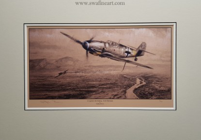 A Legend in the Making Erich Hartmann Mounted Limited Edition Pencil Drawing (Stephen Brown Aviation Artist)