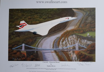 Concorde Homeward Bound Set of 4 small A Proof Edition (Stephen Brown Aviation Artist)