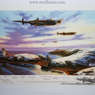 Lancaster over Kynance stephen Brown Remarque