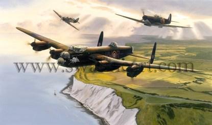Avro Lancaster Lest We Forget Birthday card