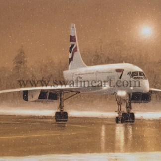 Concorde in the Snow Christmas Cards