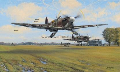 Spitfire Scramble Greeting Card
