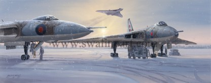 Avro Vulcan The Persuaders Christmas Cards
