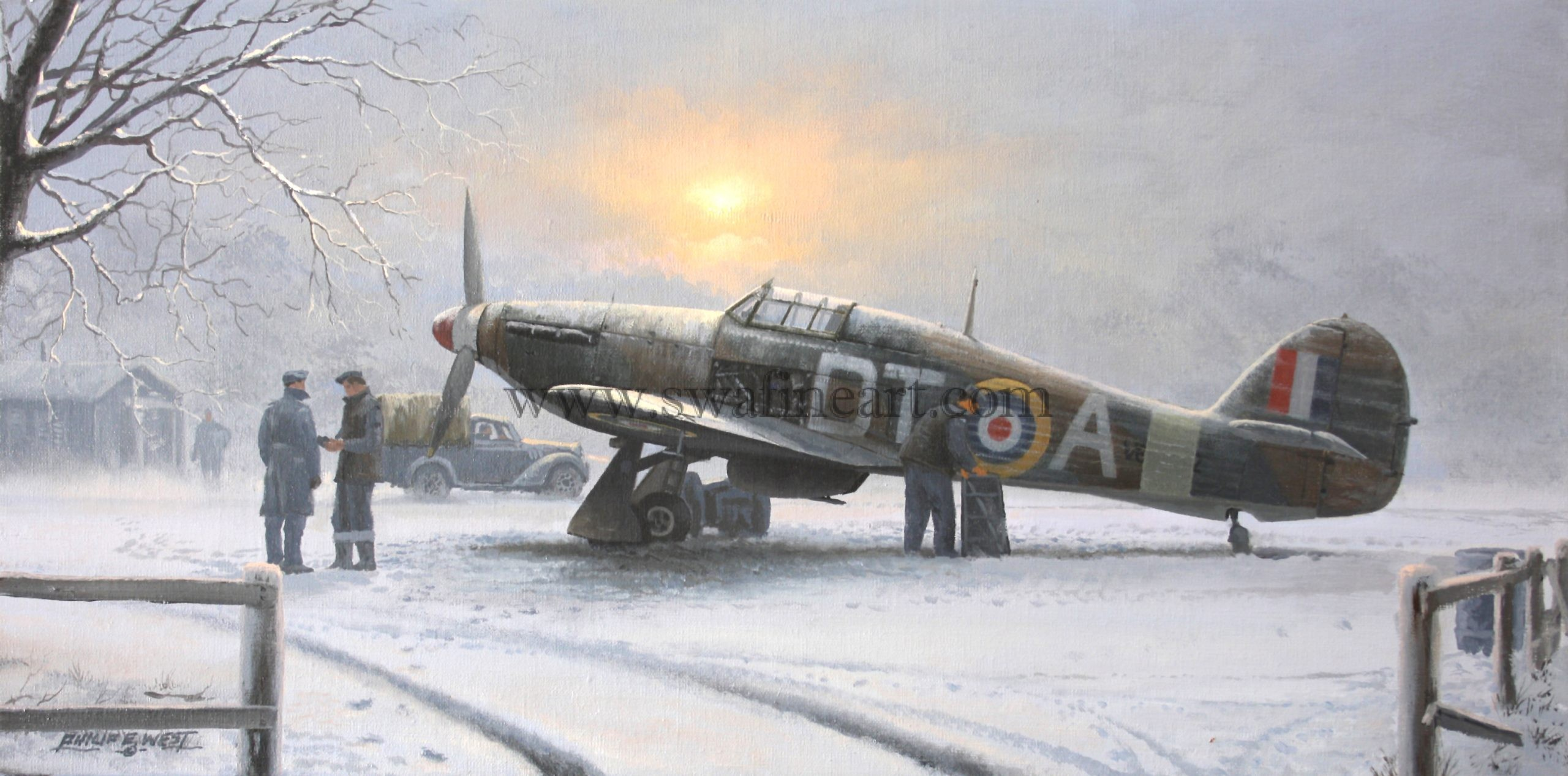 Raf Christmas Cards 2020 Hawker Hurricane Winter of 40 Christmas cards 257 Squadron RAF