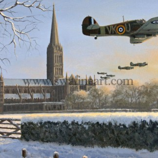 Hawker Hurricane Dawn Chorus Christmas cards