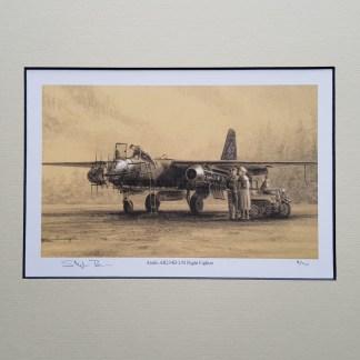 Arado AR 234 B 2 N Night Fighter Pencil Drawing (Stephen Brown Aviation Artist)