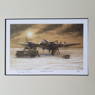 Beaufighter in the snow mounted