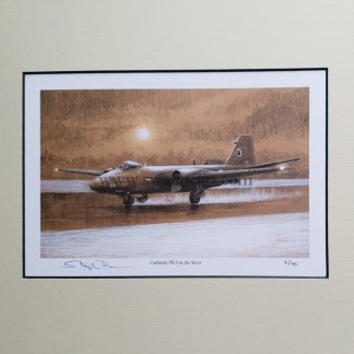 Canberra PR 9 in the snow mounted