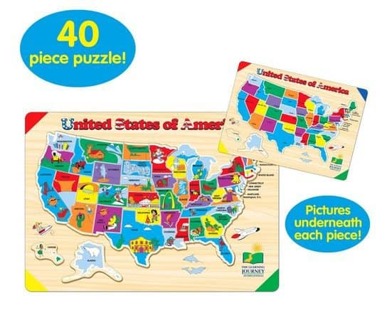 The Learning Journey Lift Learn USA Map Puzzle Only 633