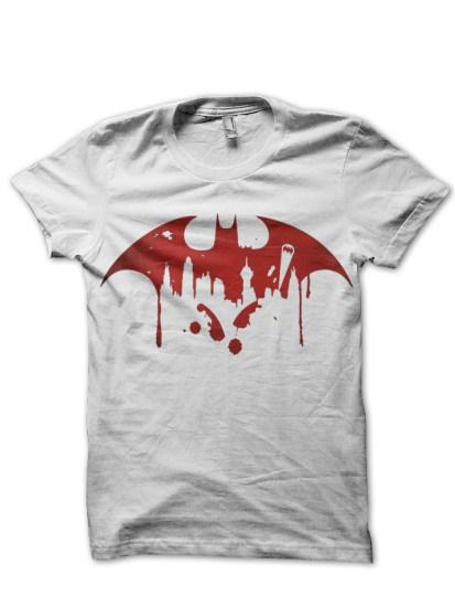 city of batman white tee
