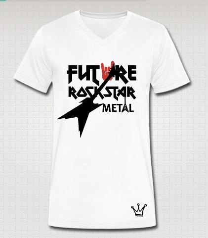 future rockstar vneck white