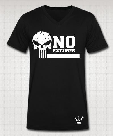 no excuses vneck black