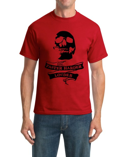 faster red t-shirt