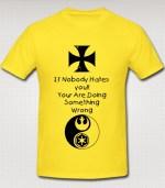 Rebel Swag T-shirt yellow