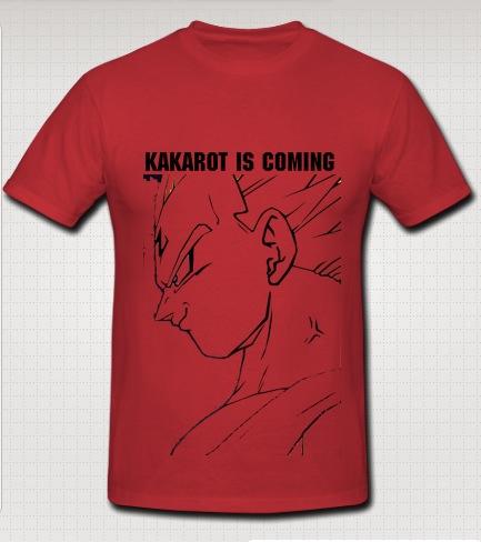 vageta swag t-shirt red