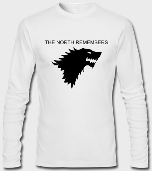 the north remember full sleeves white
