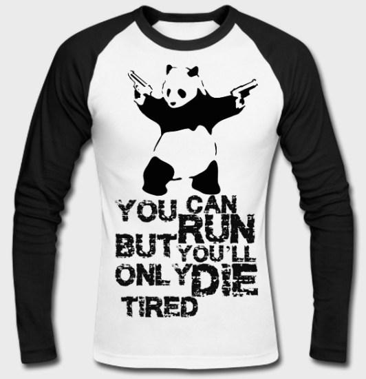 panda raglan tshirt
