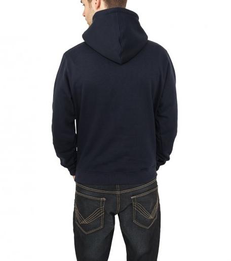 plain navy blue hoodie back