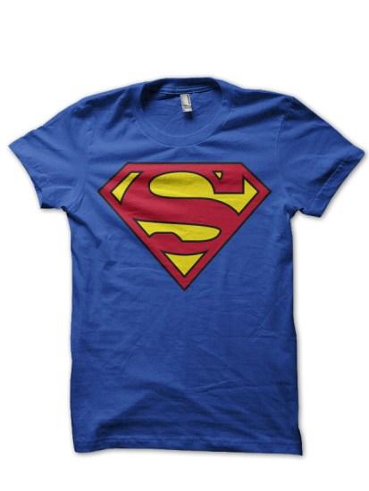 Superman blue tee