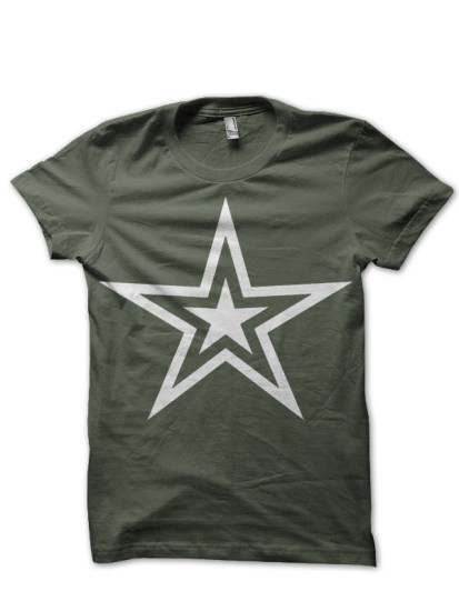 army star olive green tee