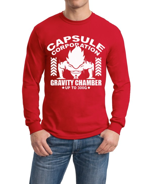 Gravity chamber DBZ red full sleeve tee