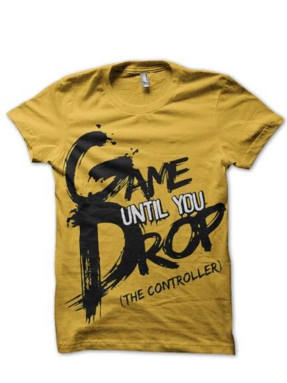 hardcore gamer yellow tee
