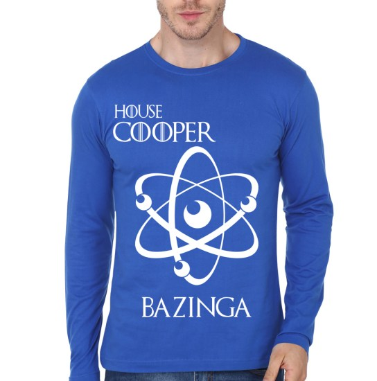 house cooper blue full sleeve tee