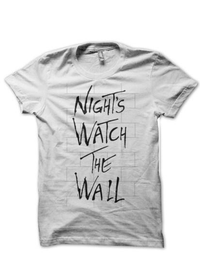 nights watch white tee