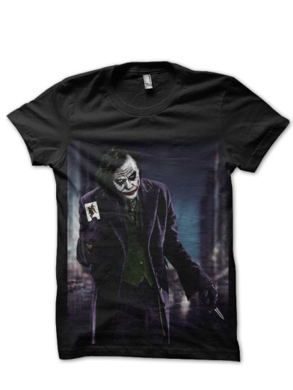 joker knife black tee