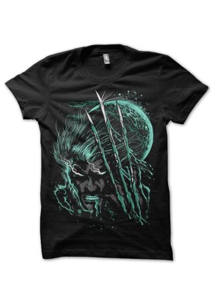 moster wolverine black t-shirt